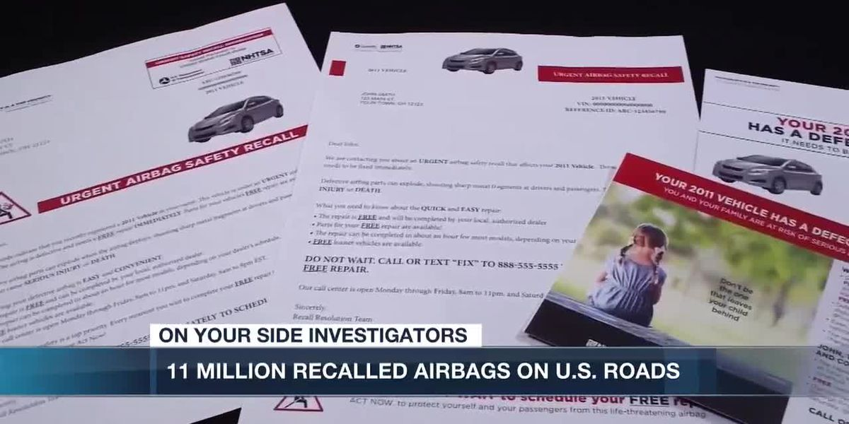 11 million recalled Takata airbags still on US roads