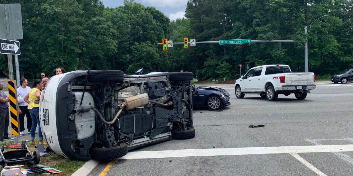 Two taken to hospital after Chesterfield crash