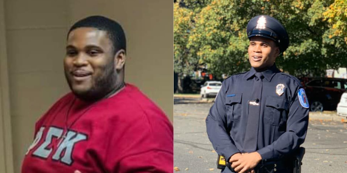 Richmond officer makes incredible transformation losing close to 200lbs