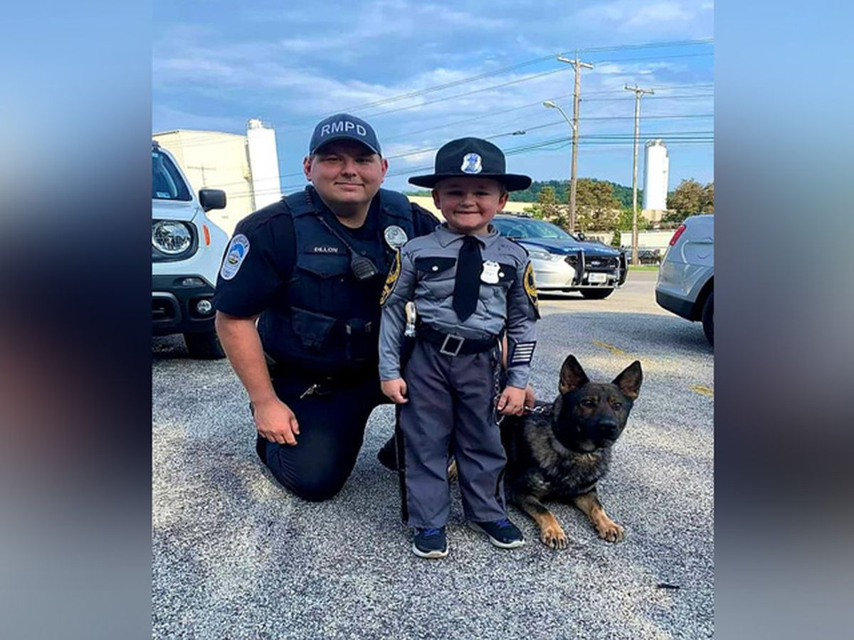 Virginia police surprise little boy with mock traffic stop