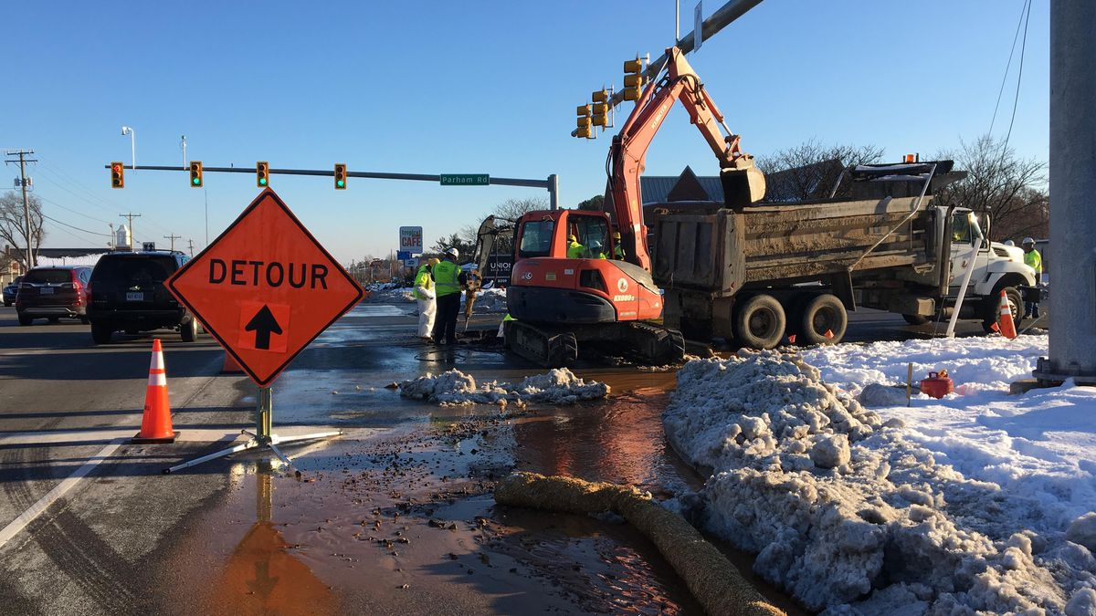 Henrico intersections reopen after water leaks