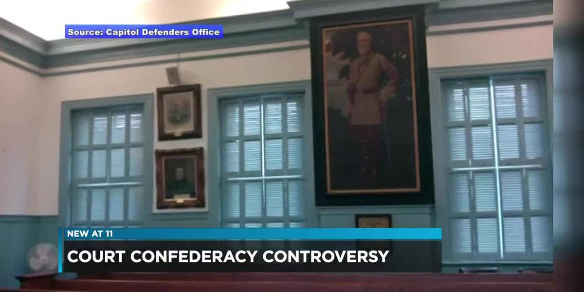 Robert E. Lee portrait causing controversy in court
