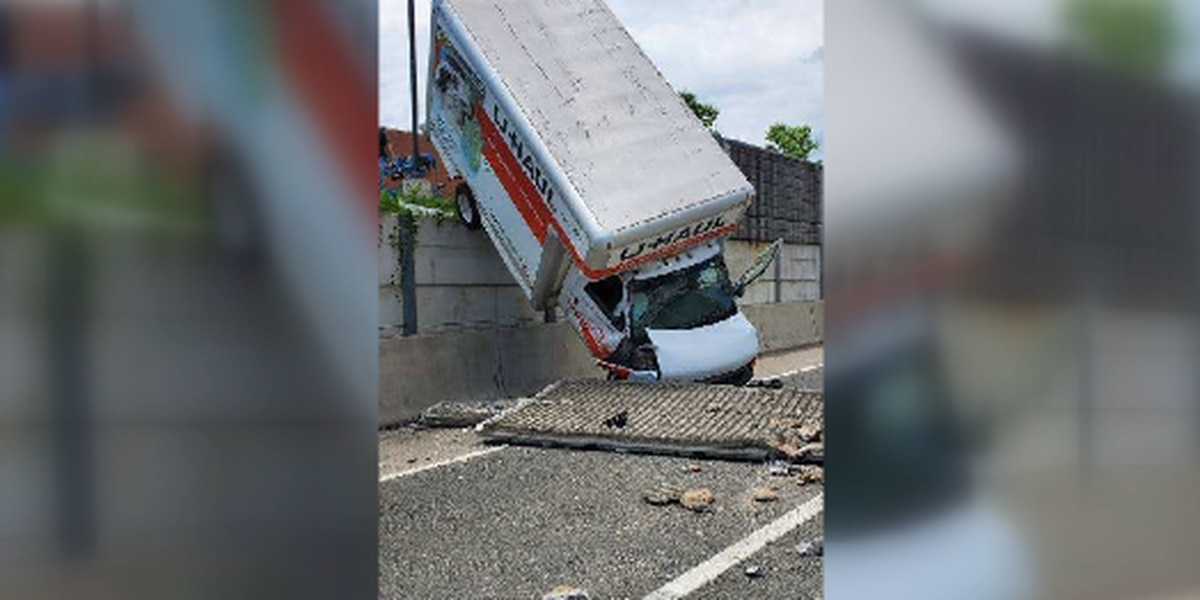 Driver crashes U-Haul into wall on I-495 in Virginia