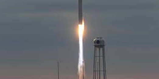Antares rocket launches from Virginia's Eastern Shore