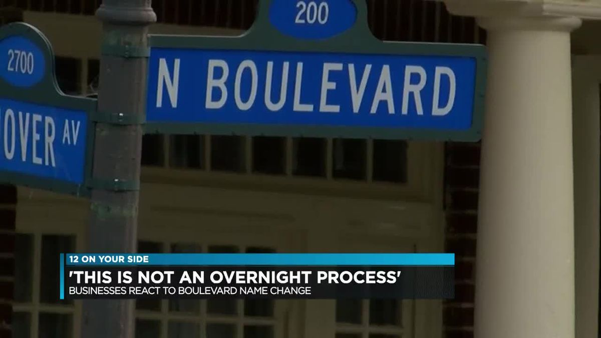 'This is not an overnight process': Businesses react to boulevard name change