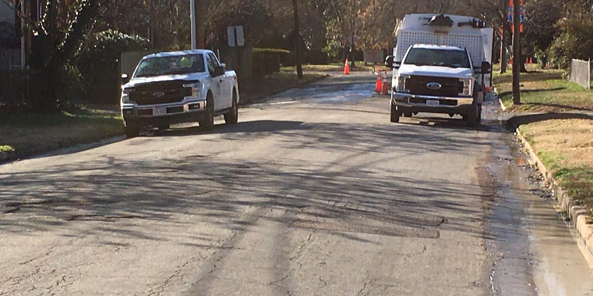 Richmond road closed due to water main break