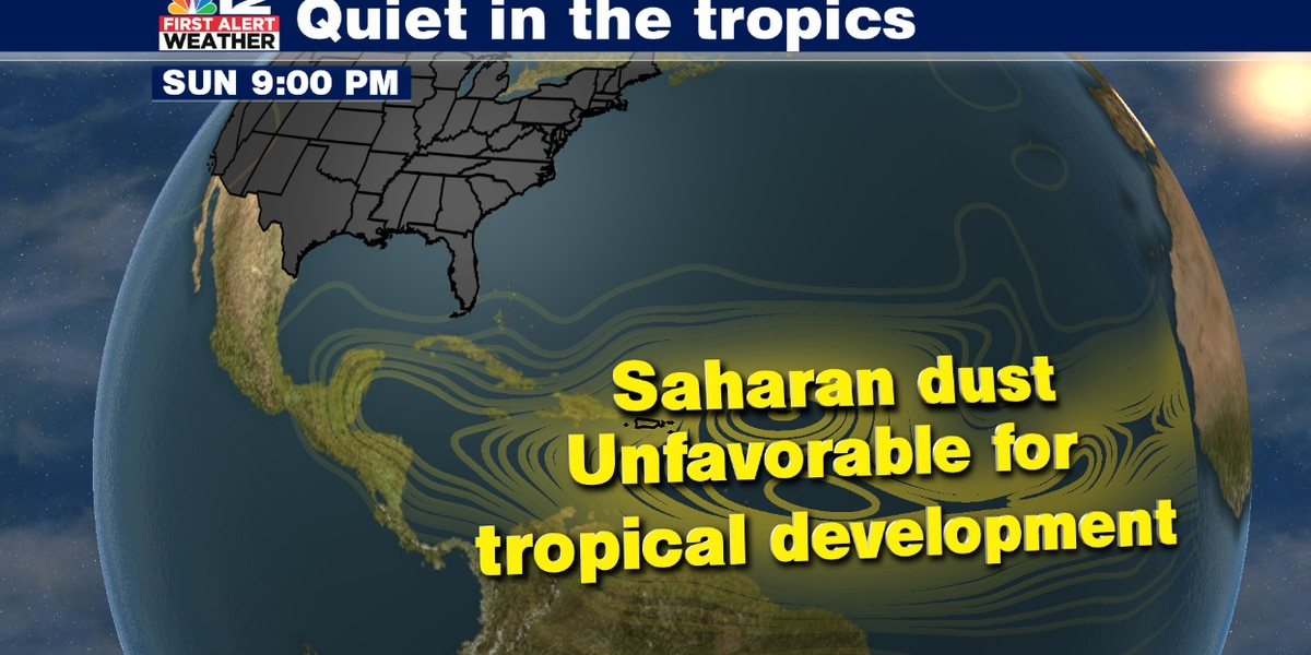 Saharan dust expected to limit tropical development for next few weeks
