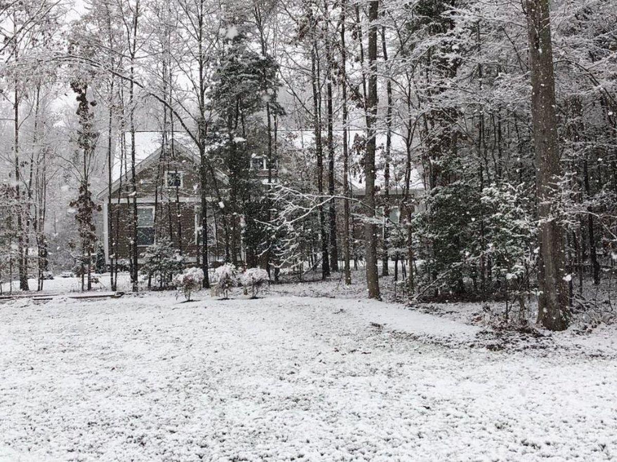 Snow showers create a winter wonderland in Central Virginia