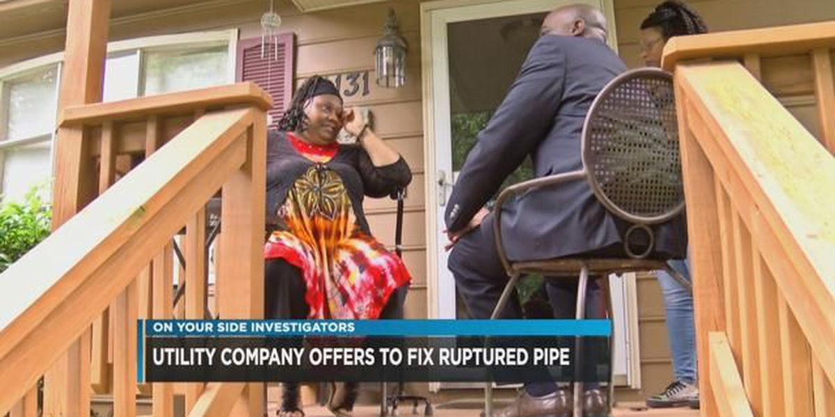 Midlothian woman relieved after company helps fix flooded yard