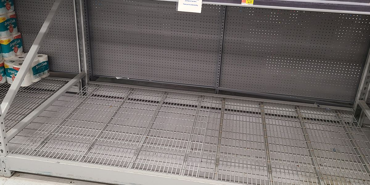 Pandemic shopping is leading to bare shelves at grocery stores again