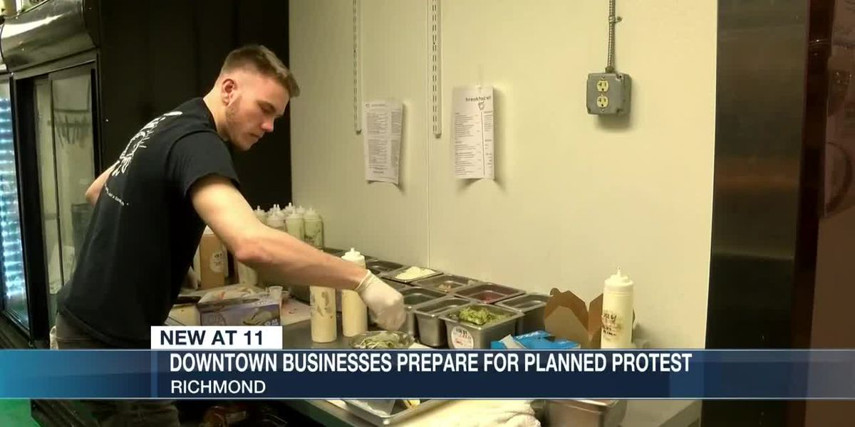 Downtown businesses prepare for planned protest