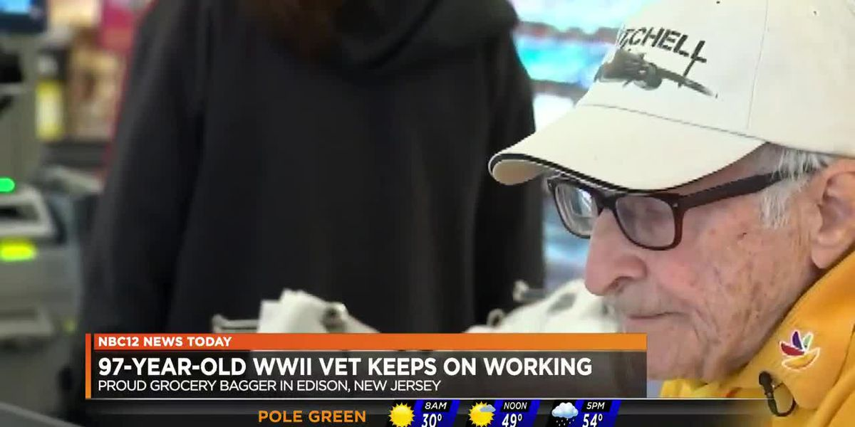 97-year-old WWII vet keeps on working