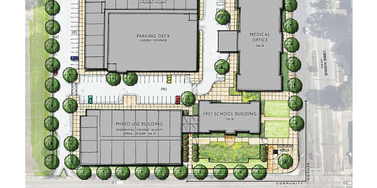 New buildings, parking deck planned for old Westhampton School site