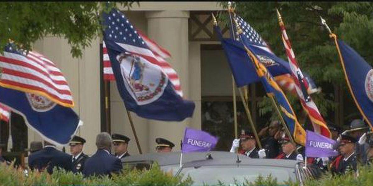 Thousands attend fallen Virginia State Trooper's funeral