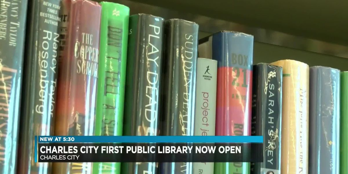 Charles City first public library now open