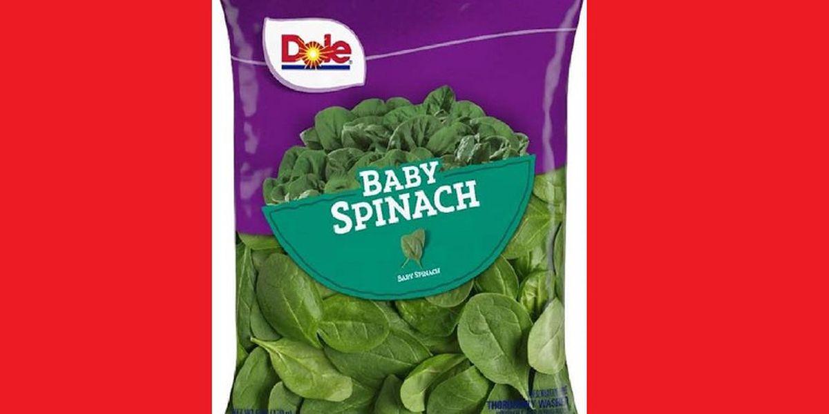 RECALL ALERT: Dole baby spinach recalled over salmonella risk