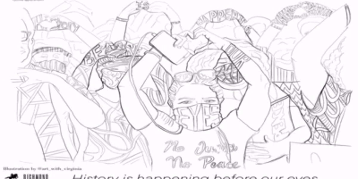 Richmond artists combine art and activism in new coloring book