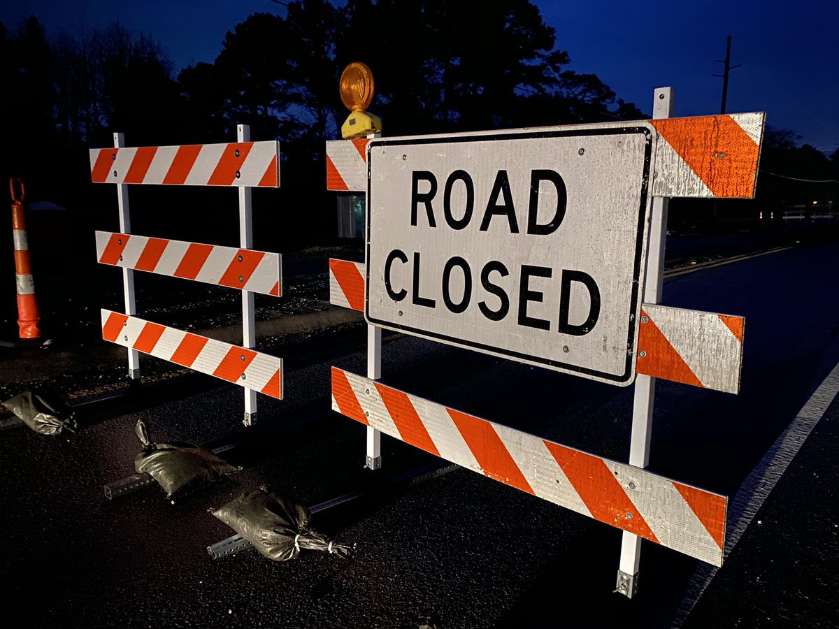 Flooding causes several road closures in area