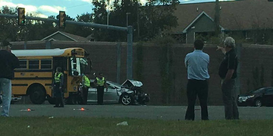 School bus involved in 6 vehicle crash; 3 injured