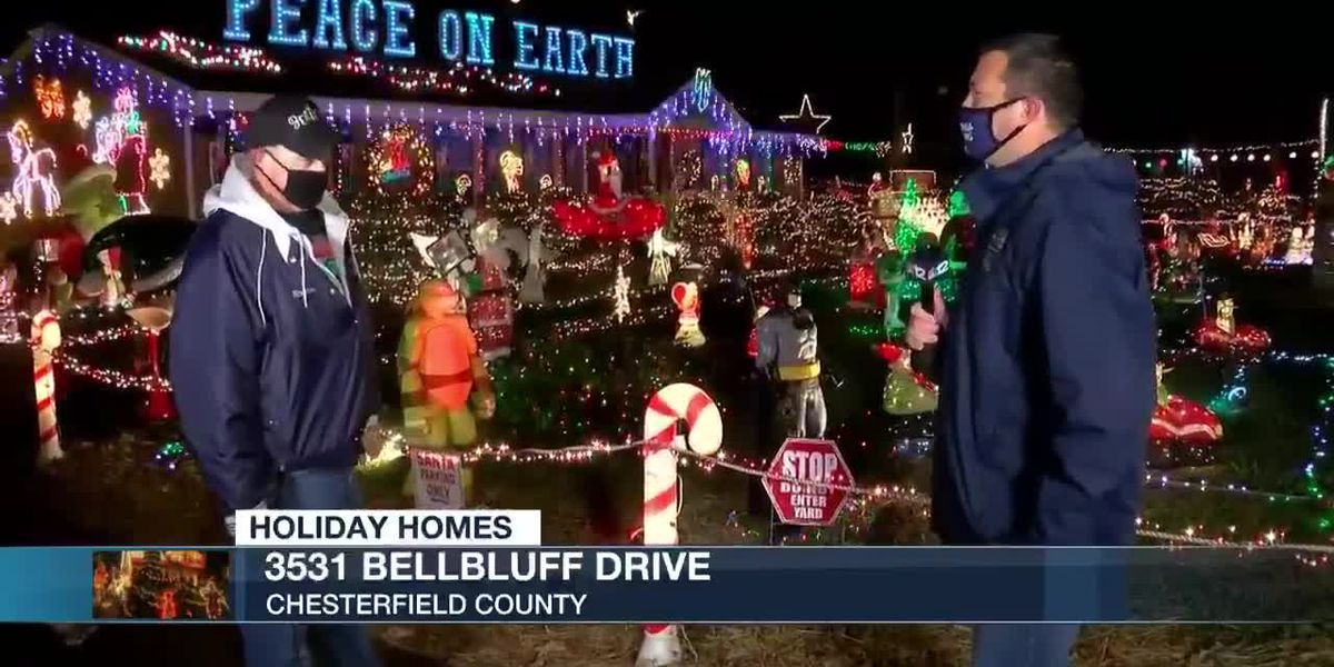 Holiday Homes: Chesterfield home lifts spirits with lights, decorations
