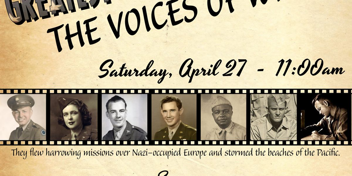 World War II veterans to discuss their experiences