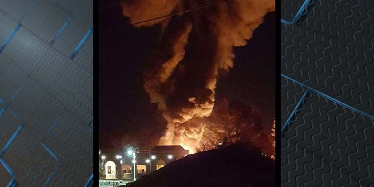 Chesterfield police release aerials on library fire
