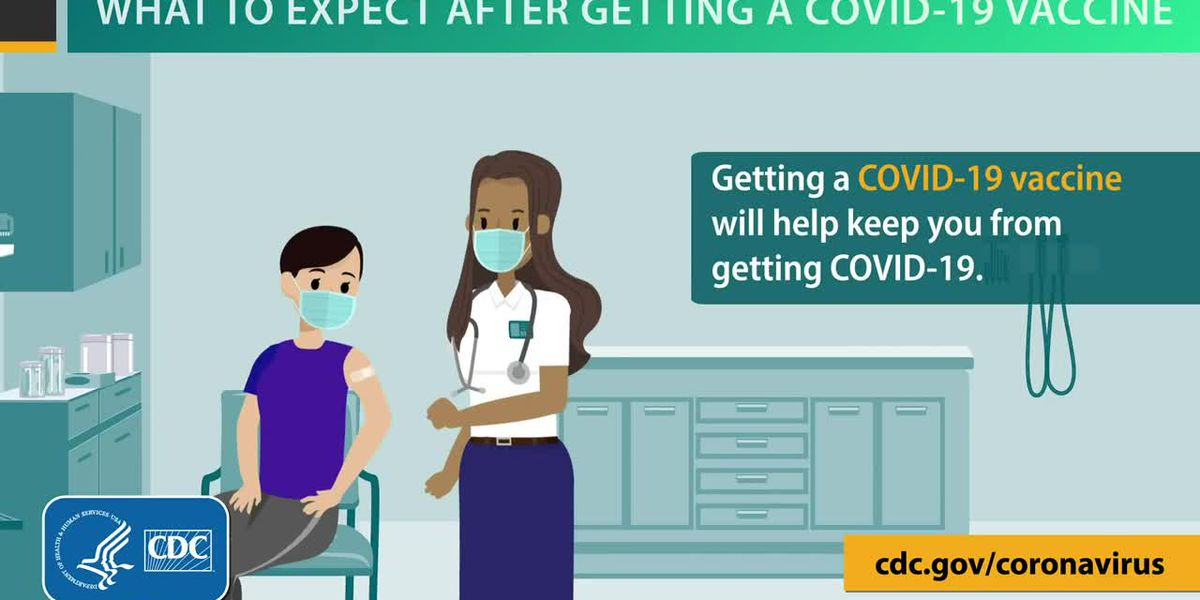 What to expect after getting a COVID-19 vaccine