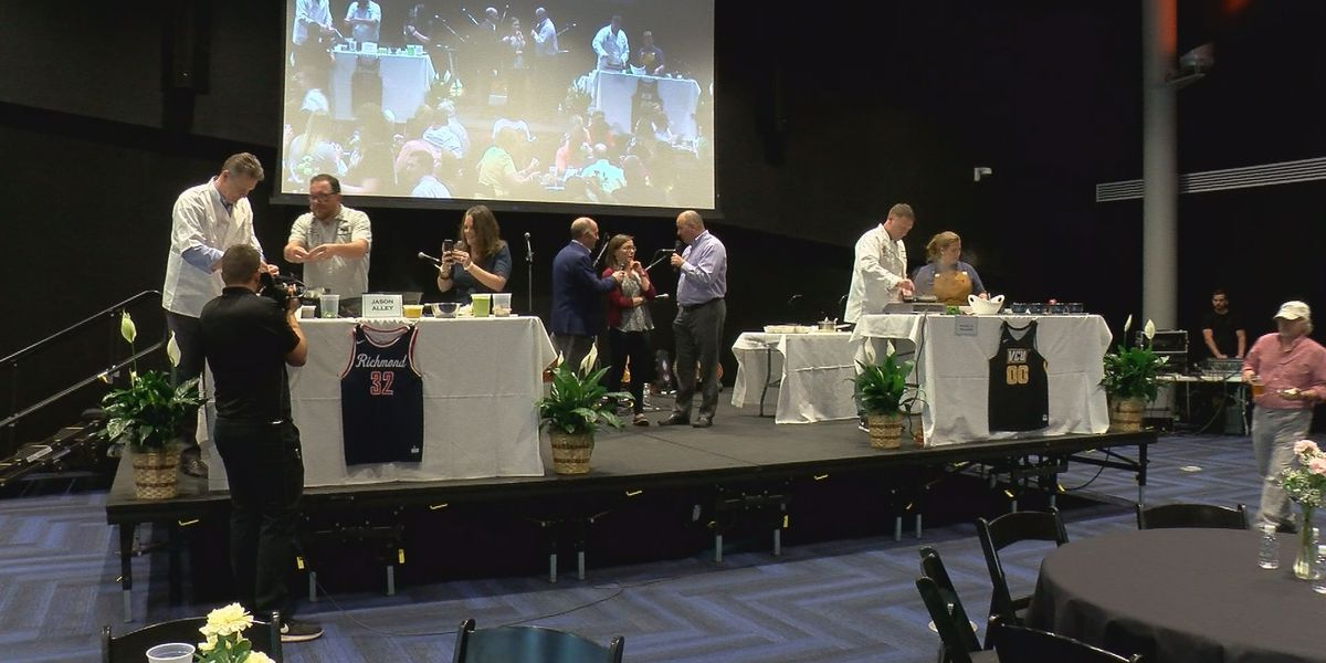 Rhoades, Mooney hit the kitchen for Coaches Cook-Off