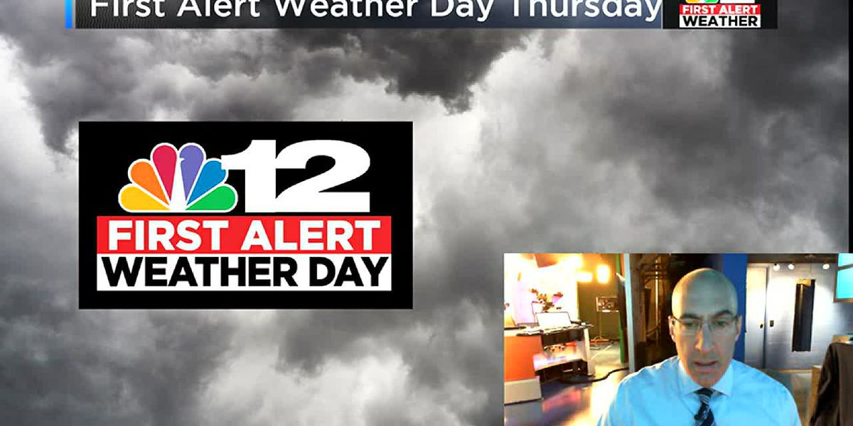 Heavy rain Thursday, early wintry mix west of RVA