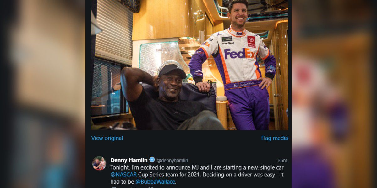 Chesterfield's Hamlin joins forces with Michael Jordan to start race team
