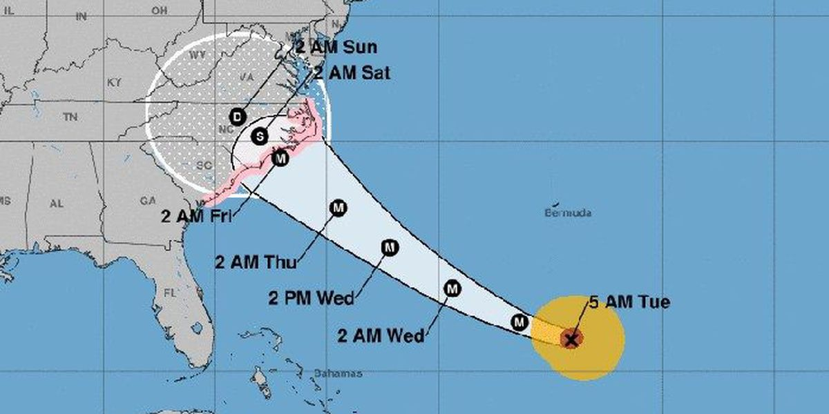 Hurricane Florence eyes Carolinas; first watches issued