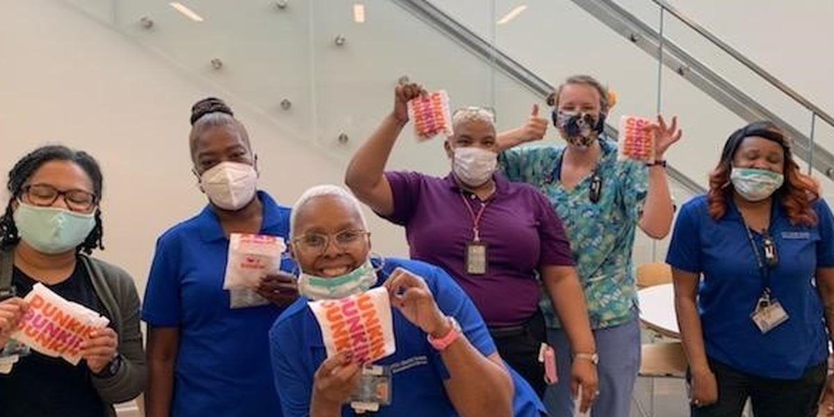 Richmond Dunkin Donuts franchisees delivers coffee to hospital staff