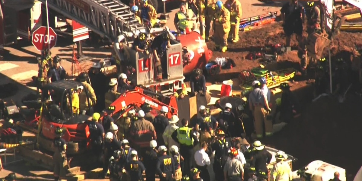 Missing worker's body removed from collapsed trench at NC construction site