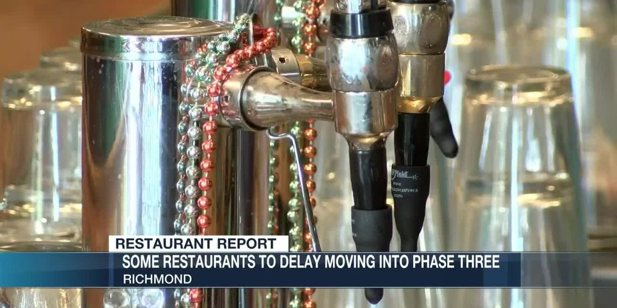 Some restaurants to delay moving into Phase Three