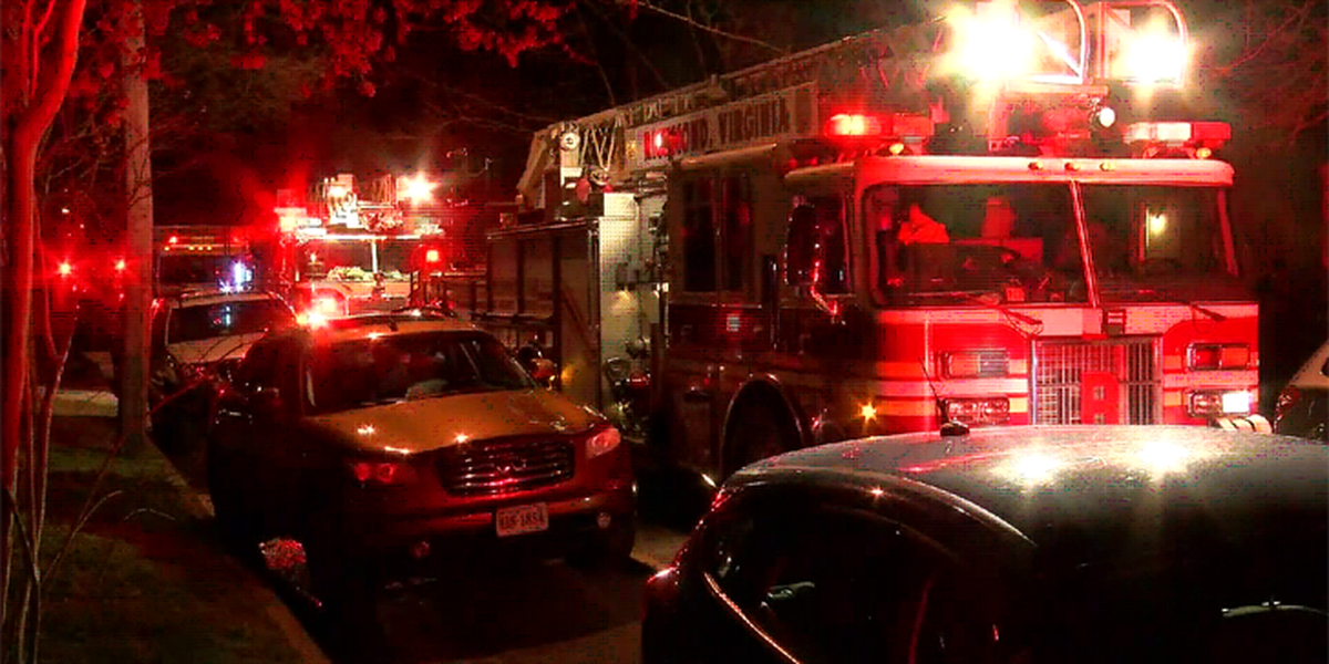 Woman, dog escape house fire in Richmond's Northside