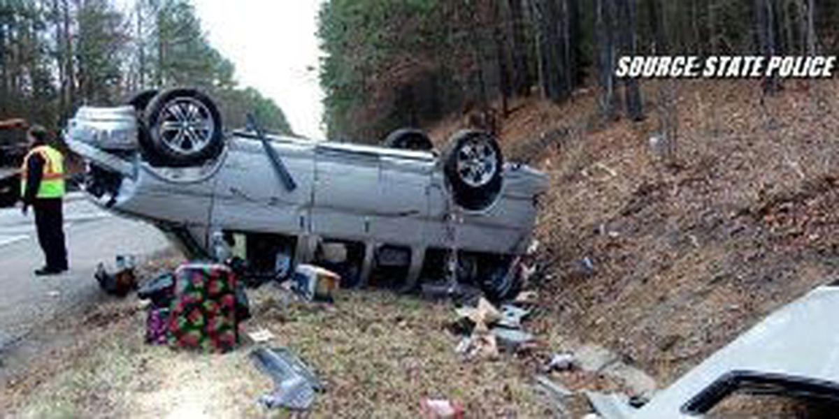 6 people injured in crash on I-85 South in Dinwiddie