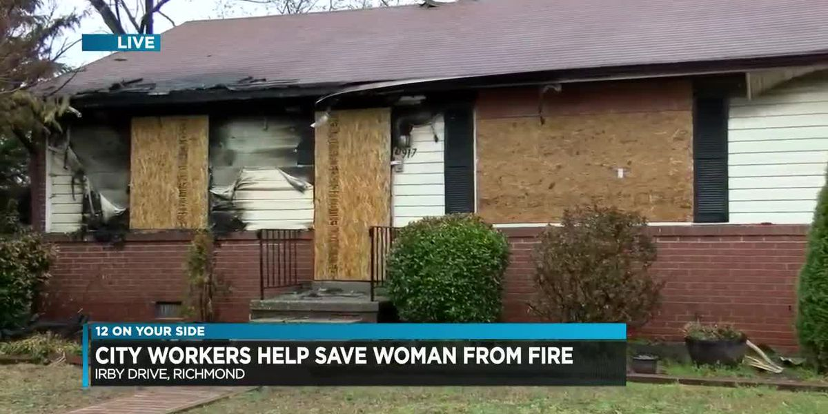 'Just trying to help': Public works employees help save two people from house fire