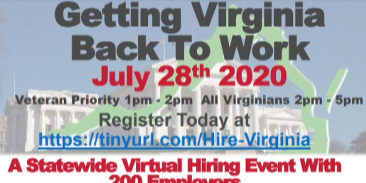 VEC to host 'Back to Work' virtual job fair Tuesday