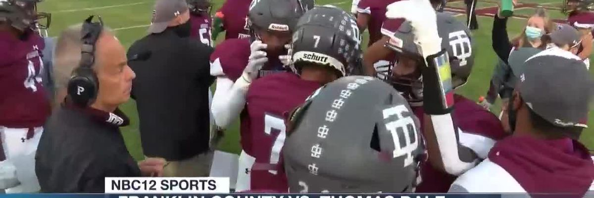 Thomas Dale runs past Franklin County in Region 6A semifinals