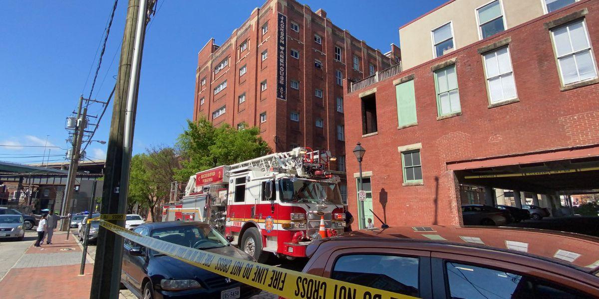 Richmond fire crews declare 2nd alarm in Shockoe Bottom high rise apartment fire