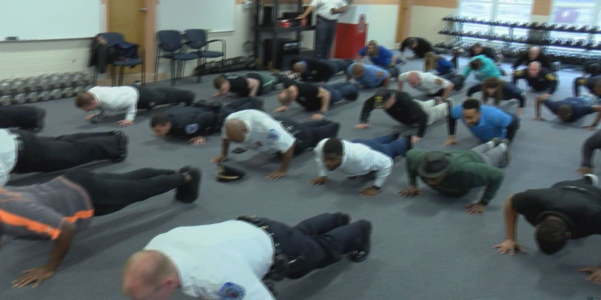 Richmond takes on the MS Push-Up Challenge