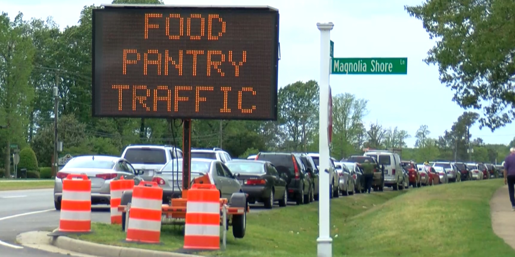 Hundreds of families line up for necessities from Chesterfield Food Bank