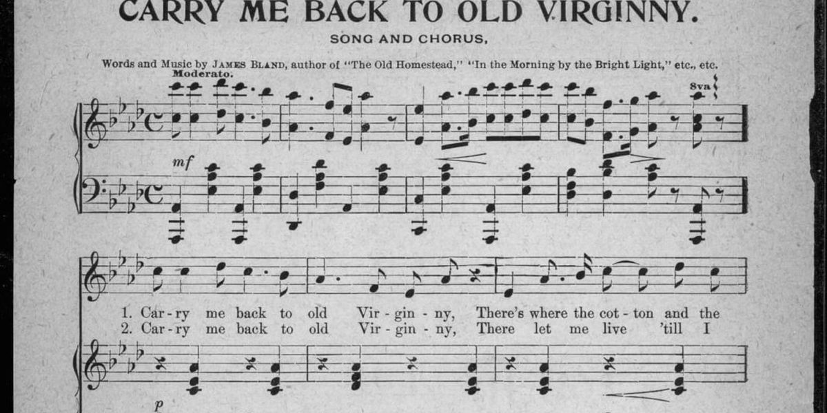 Why is a racist minstrel tune still recognized in Virginia code as the 'state song emeritus?'