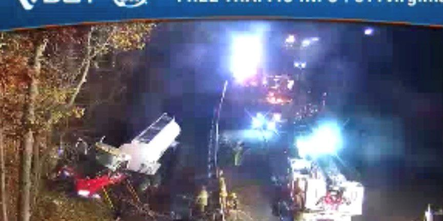 Tractor-trailer driver hospitalized after crash on I-64 East near Staples Mill Road
