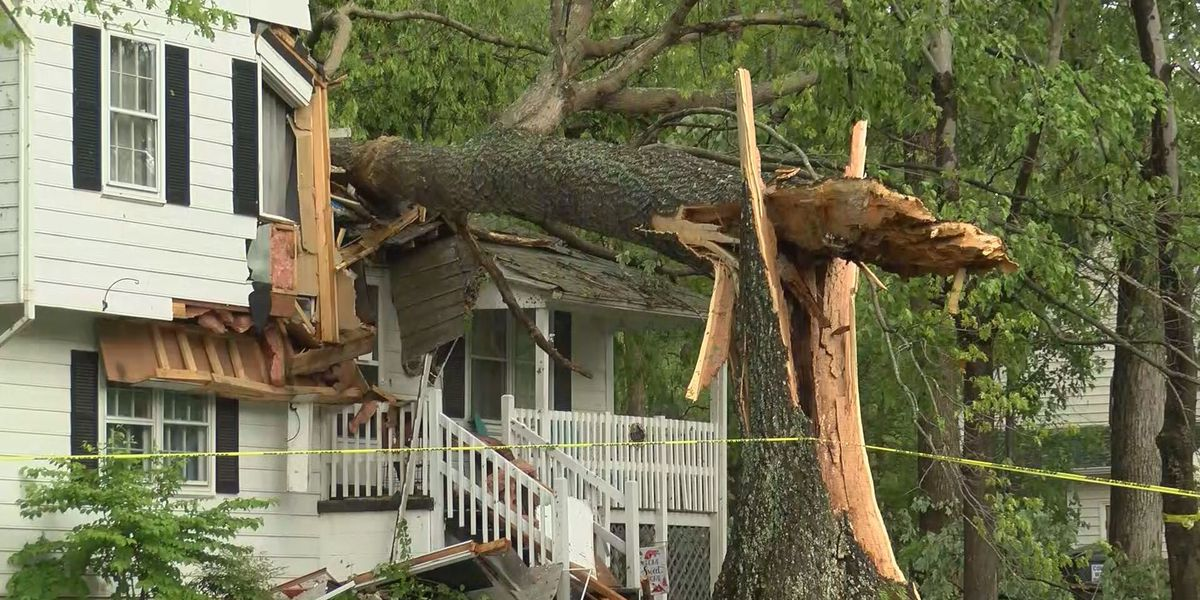 Dozens of homes, property damaged in late afternoon storms Friday