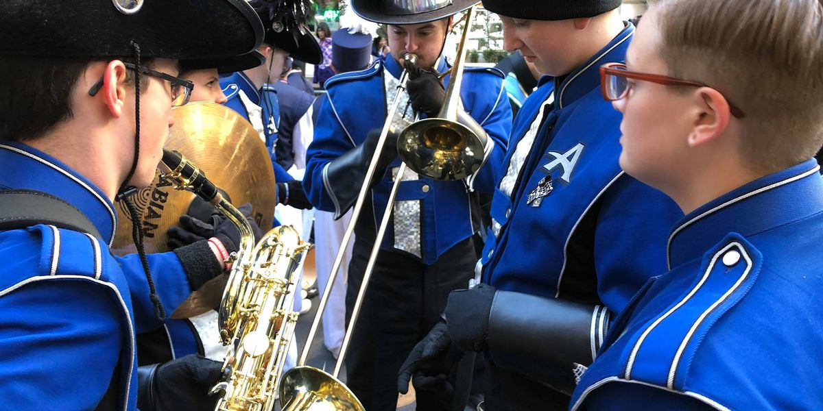 Hanover All-County Marching Band performs in Veterans Day parade