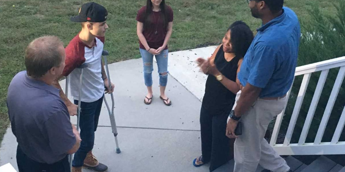 New Kent woman meets the young man she rescued from a burning truck