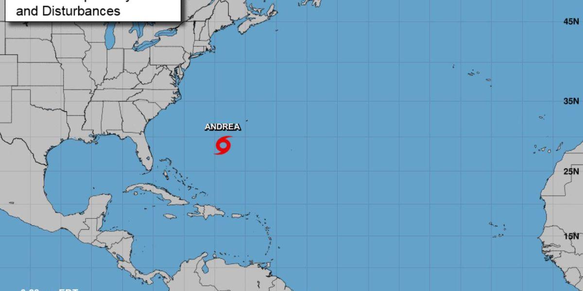 Andrea is Atlantic season's 1st named storm