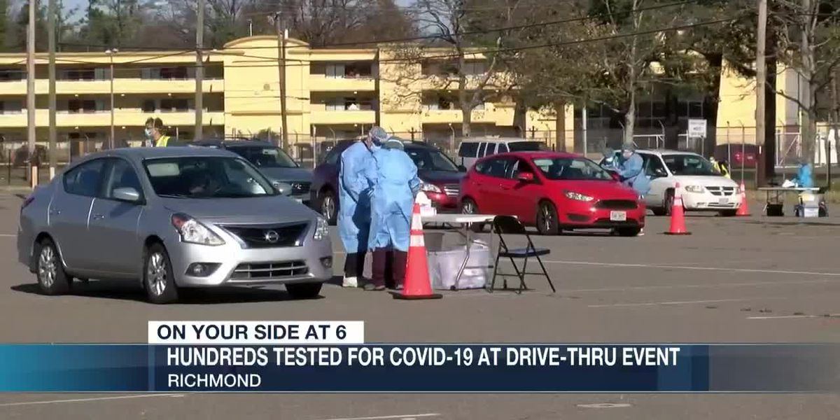 Hundreds tested for Covid-19 at drive-thru event
