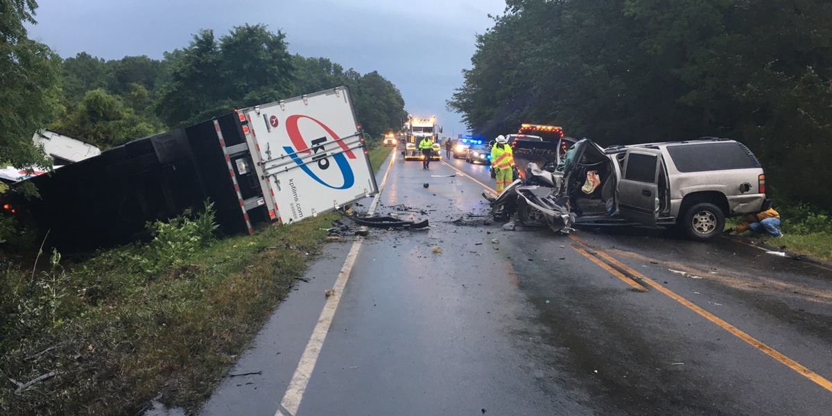 Driver seriously injured in crash involving tractor-trailer